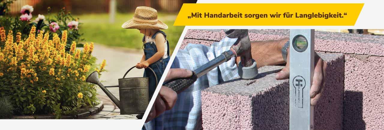 Mit Handarbeit sorgen wir für Langlebigkeit. | BRALE Bau GmbH
