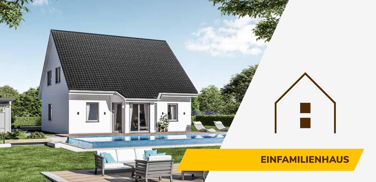 Einfamilienhaus-Bild und Icon der BRALE Bau GmbH
