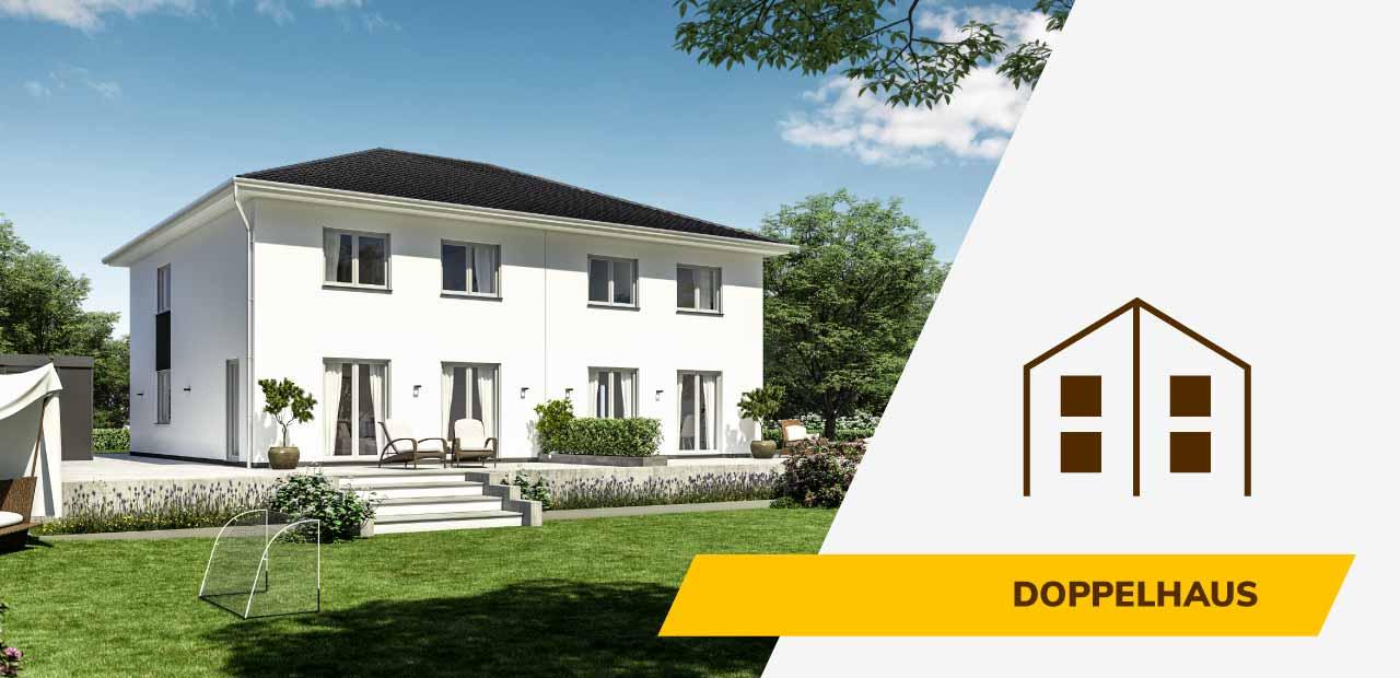 Doppelhaus-Bild und Icon der BRALE Bau GmbH
