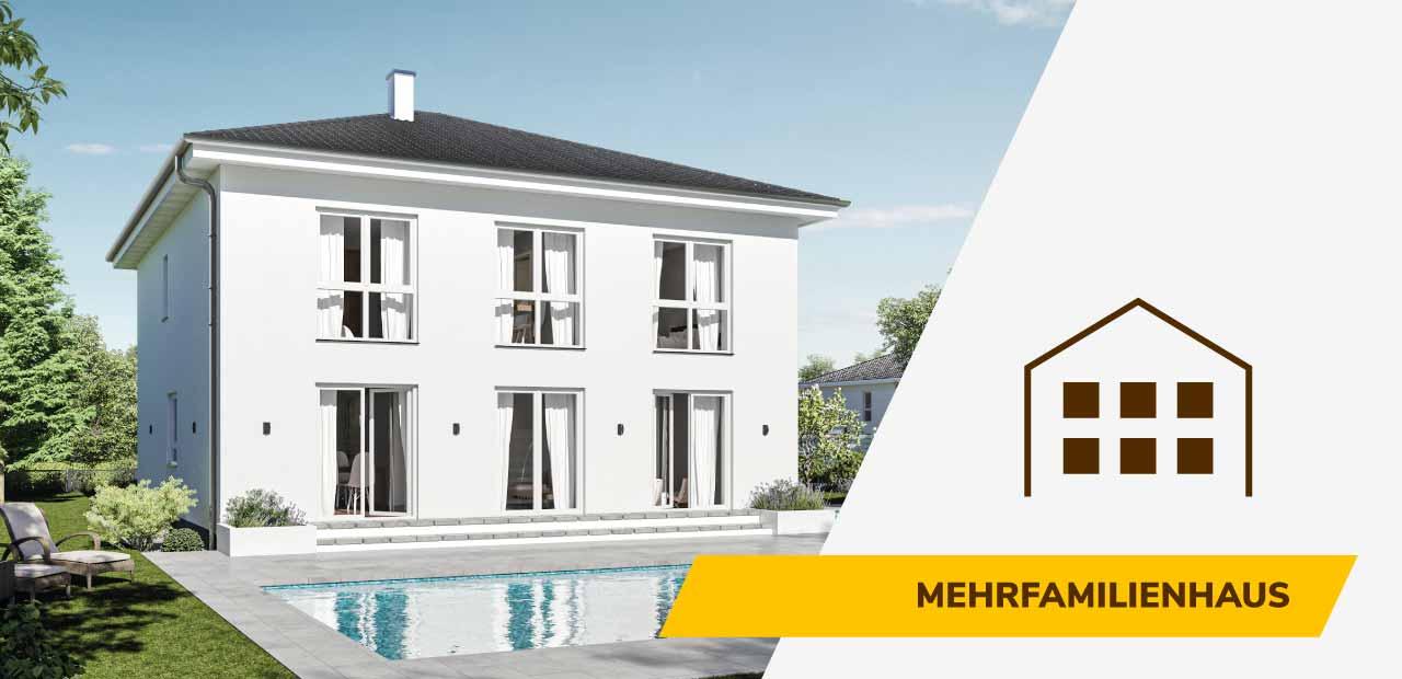 Mehrfamilienhaus-Bild und Icon der BRALE Bau GmbH